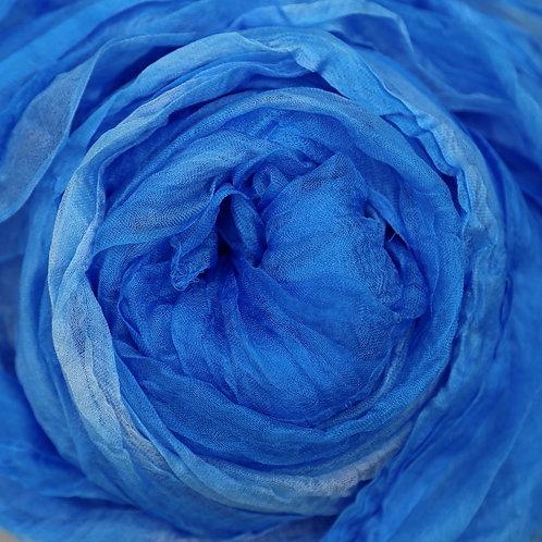 Hand dyed Margilan silk - 1 yard, Tidepool