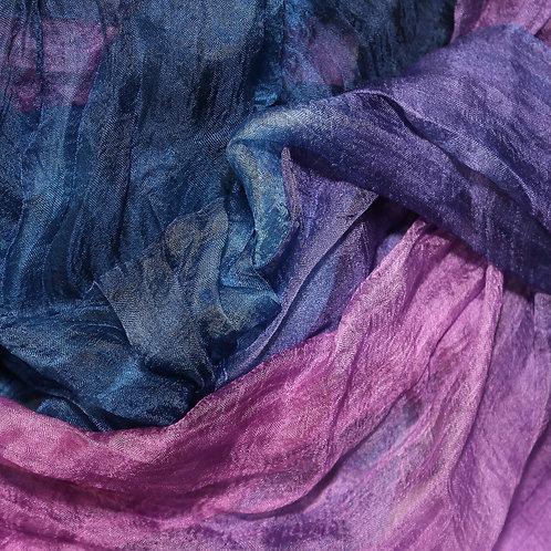 Hand dyed Margilan silk - 3 yards, Cornflower