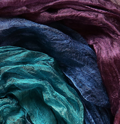 Hand dyed Margilan silk - 3 yards, Victorian