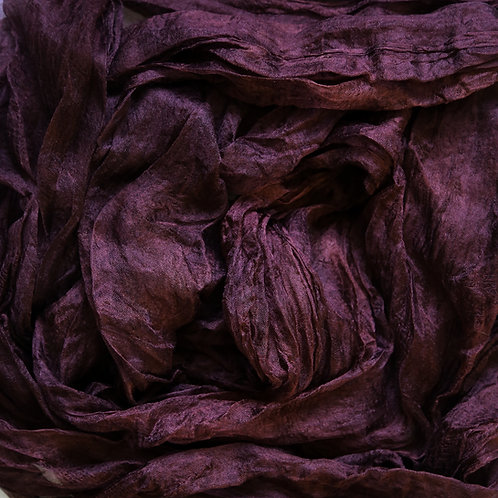 Hand dyed Margilan silk - 1 yard, Burgundy