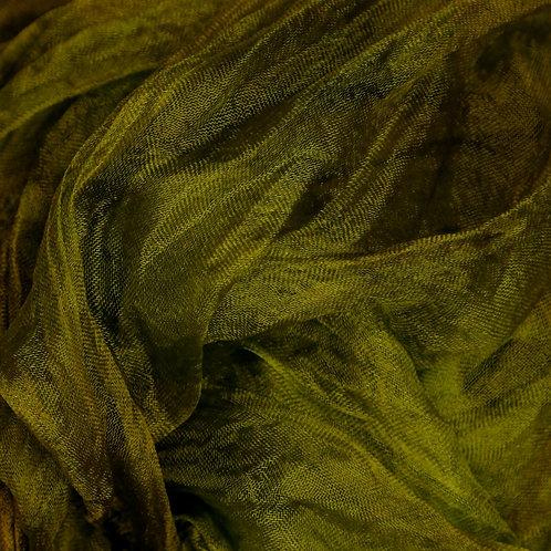 Hazel, hand-dyed Margilan silk, sparse gauze - 1 yard