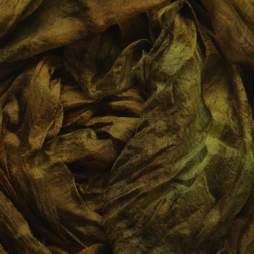 Hand dyed Margilan silk - 1 yard, Hazel