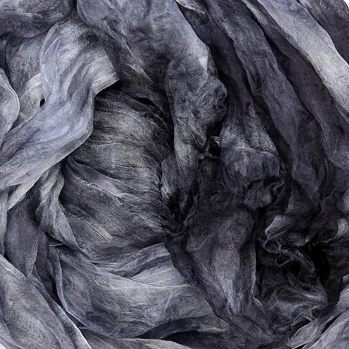 Hand dyed Margilan silk - 1 yard, Ash