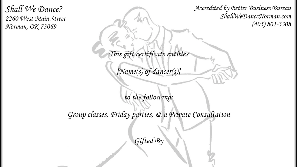 Group classes, Friday parties, & a half-hour private consultation