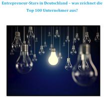Studie über Top-100 Entrepreneur-Stars veröffentlicht