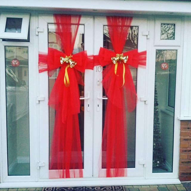 Jingle all the way! 🔔🔔🔔🔔_#doorbowsliverpool #doorbow #doorbows #reddoorbow #redChristmas #liverp