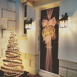 Megan's pink and gold door bow gives me life 💕💓💕 _mdkidsclothing _#doorbowsliverpool #doorbow #do