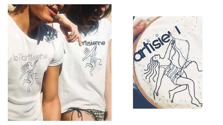 La_Partisienne-T-shirt-Brodé-main-homme
