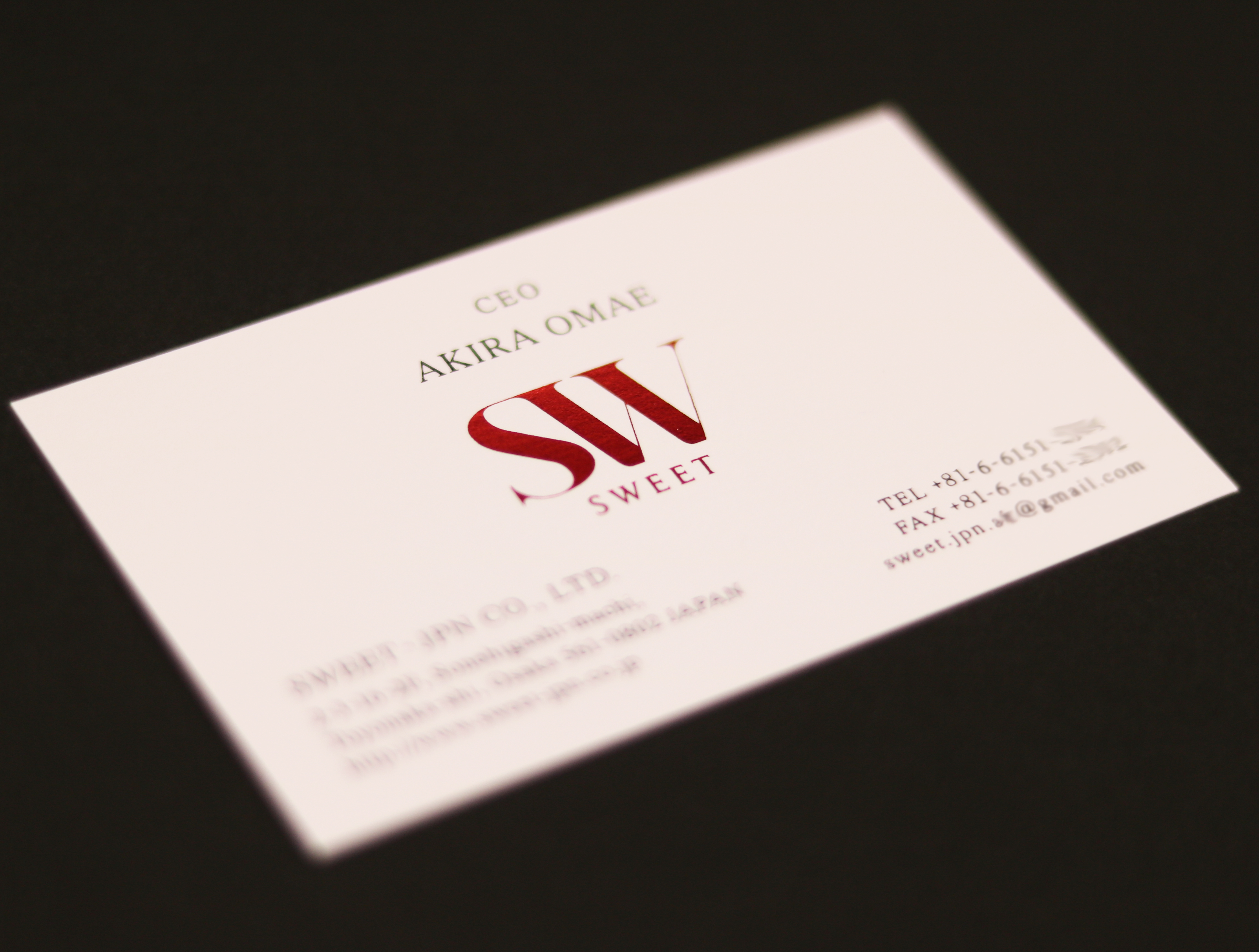 株式会社SWEET-JPN様 名刺