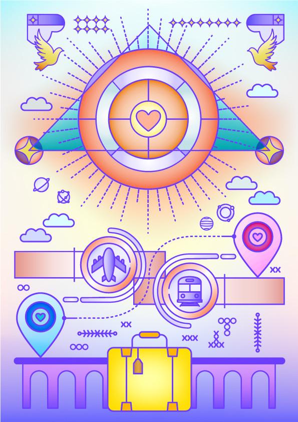 distance / Graphic design