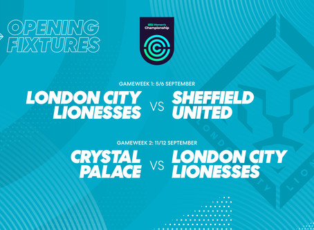 Lionesses to face Sheffield United at home on Sun 6th Sept in their opening fixture