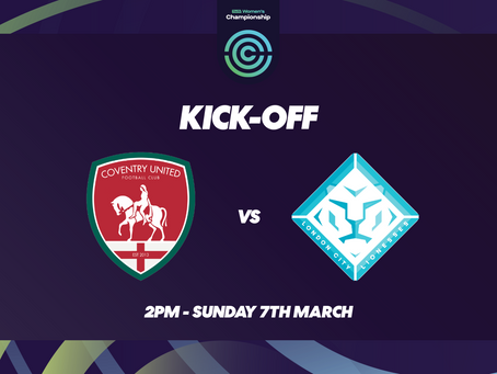 The Lionesses aim to get back to winning ways against Coventry on Sunday