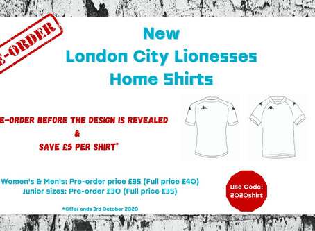 London City Lionesses – Replica Shirt Available For Pre-Order!