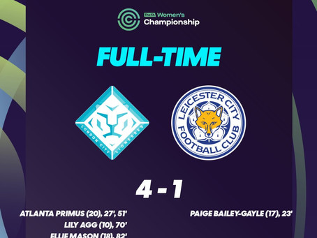 Confident 4-1 Win for London City Lionesses Against Leicester City