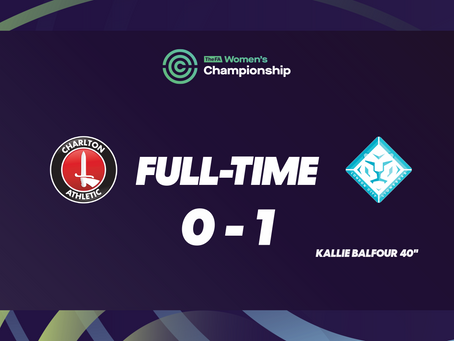 All Three Points Secured Away - Charlton 0 – 1 London City Lionesses