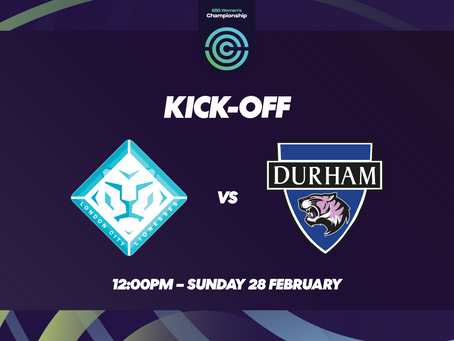 Fixture Update: Lionesses to play Durham on 28th February