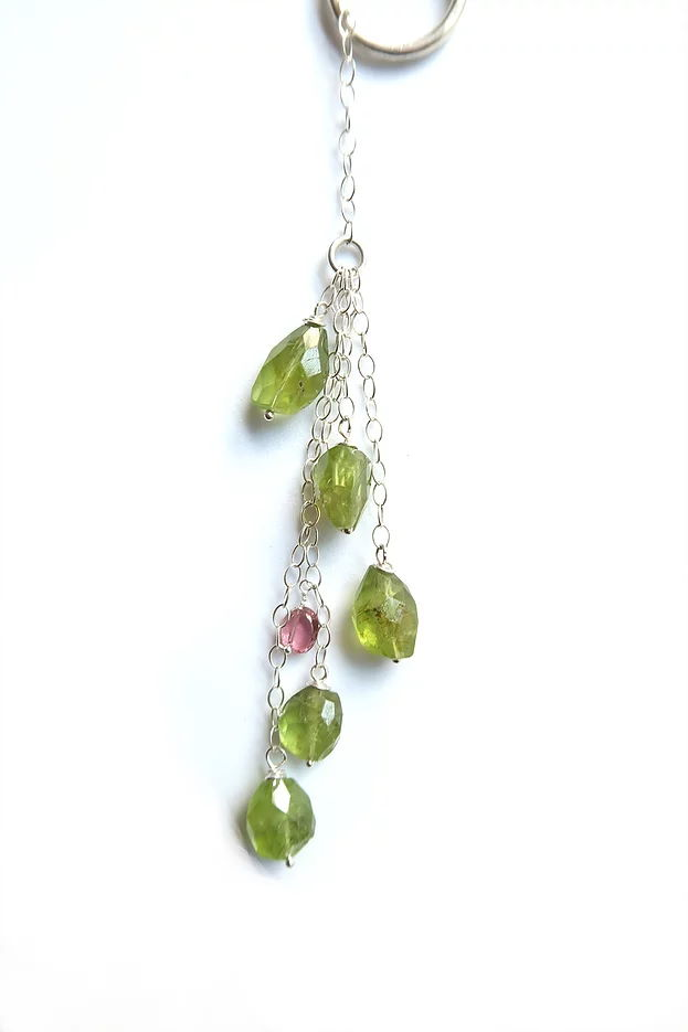 Peridot and Pink Tourmaline Lariat