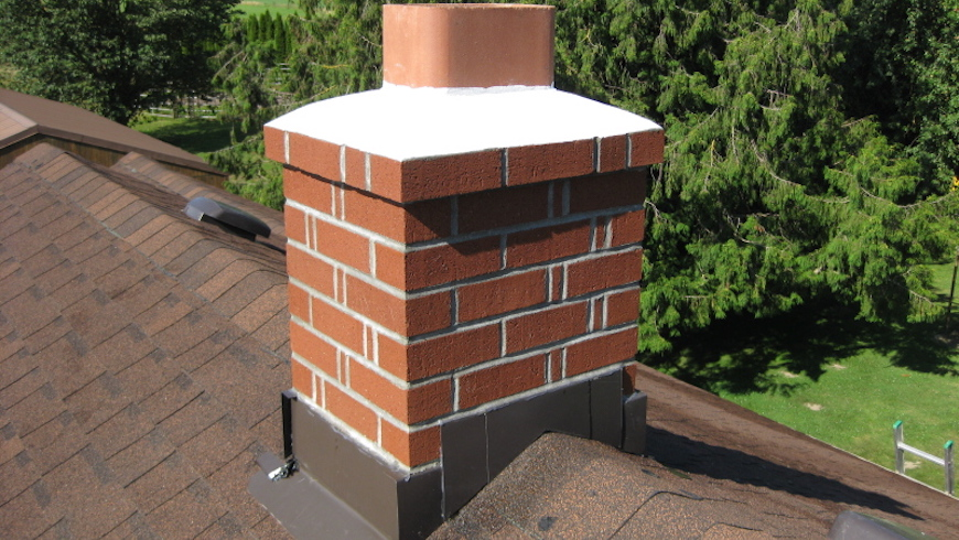 Lead work on chimney stack