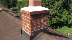 Lead work on chimney stack