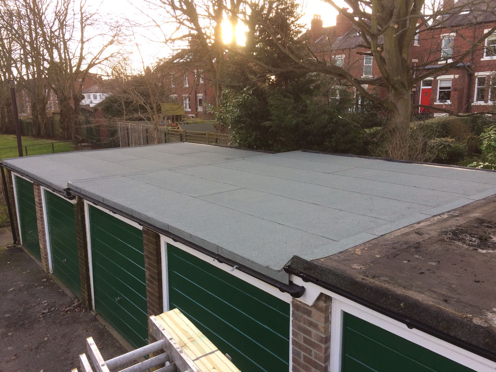 Garage roofs replaced
