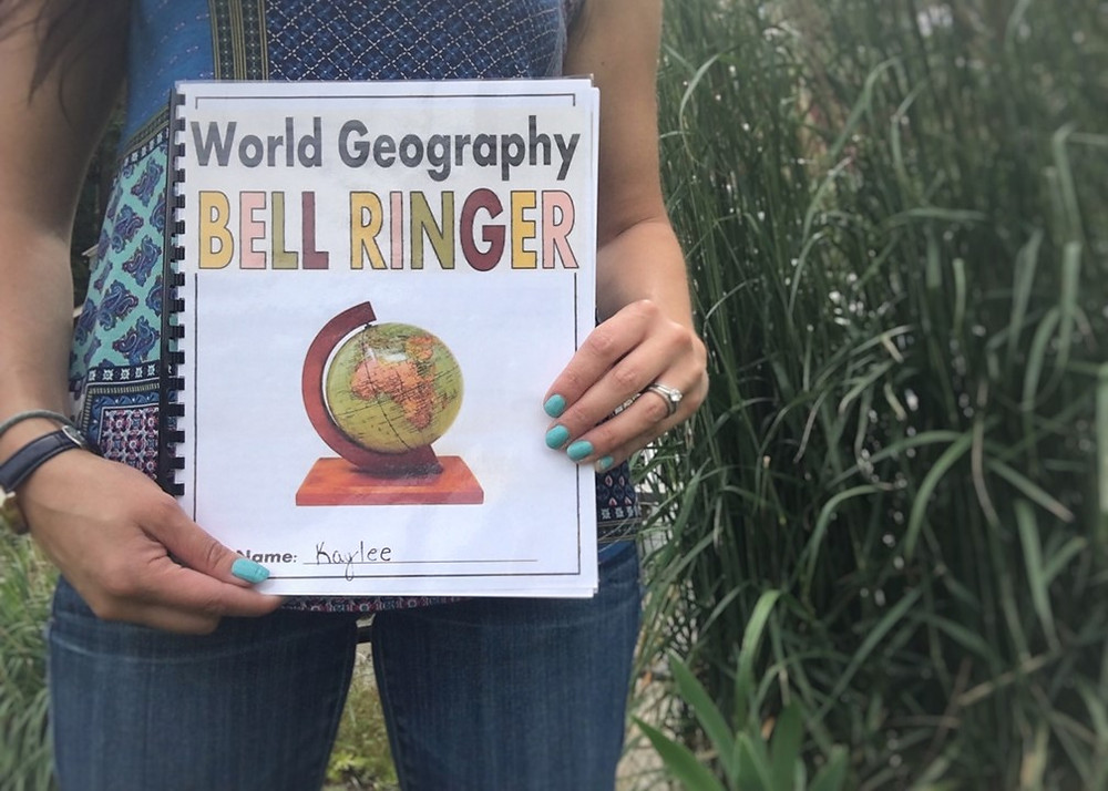 Countries of the World Daily Bell Ringer or Entry Task