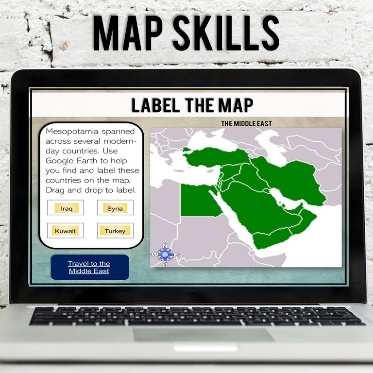 Ancient Mesopotamia Map Skills digital activity