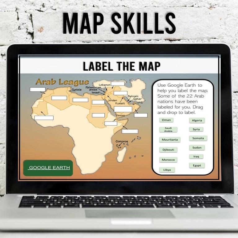 Arab Nations Map Skills