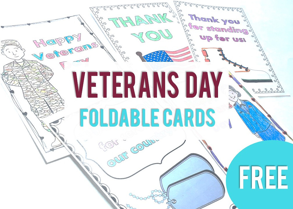 Free Foldable Thank You Cards for Kids to Send to Veterans in 2020