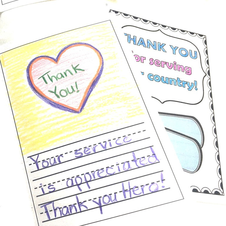 Free Veterans Day Thank You Cards