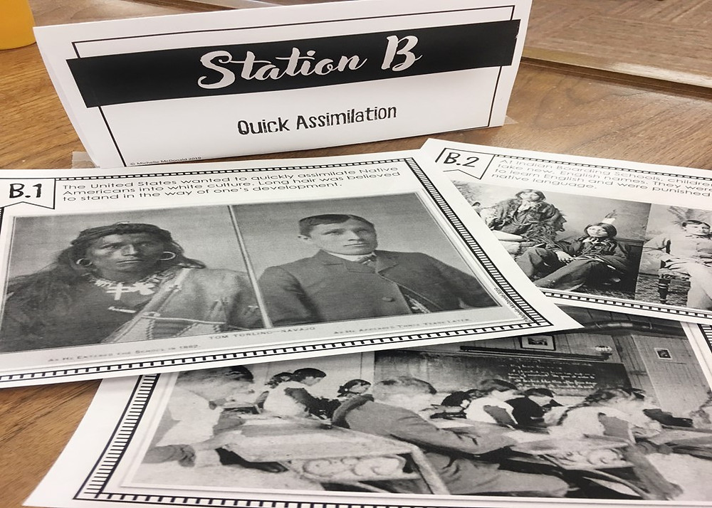 Assimilation of Native Americans Stations Activity