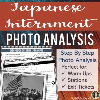 Japanese Internment Photo Analysis Lesson
