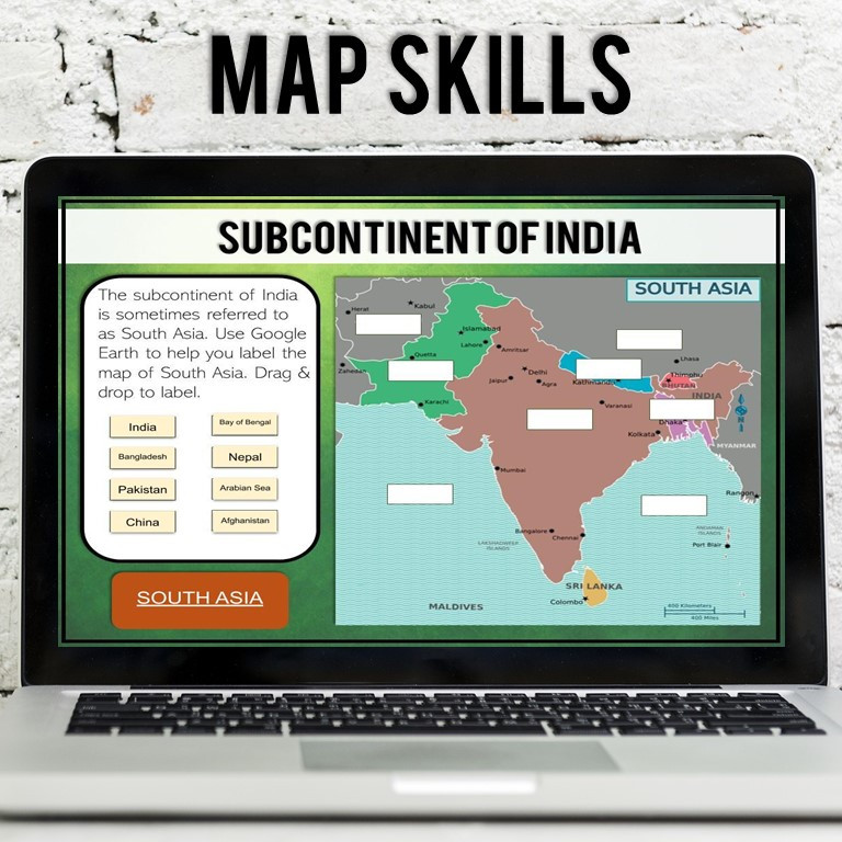 Geography and Map Skills Lesson of India