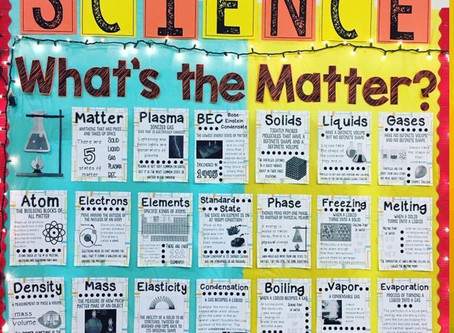 5 States of Matter Bulletin Board Display with Word Wall Posters