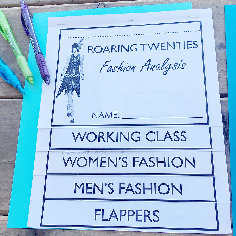 Roaring Twenties Fashion Lesson Plan