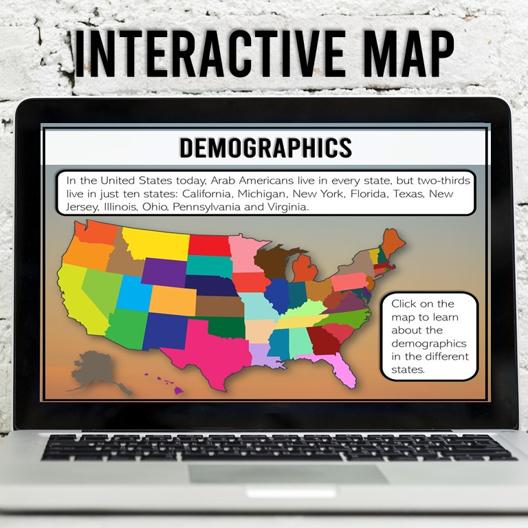 Arab American Heritage Month Interactive Digital Activity