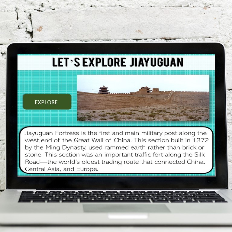 Great Wall of China virtual field trip for middle school