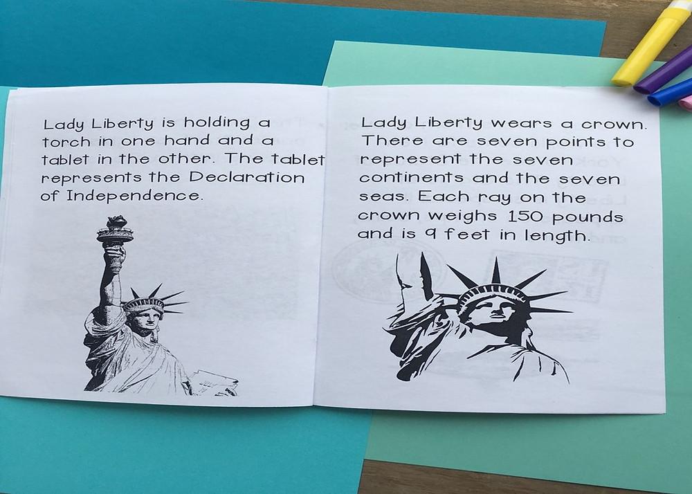 The Statue of Liberty Mini Book