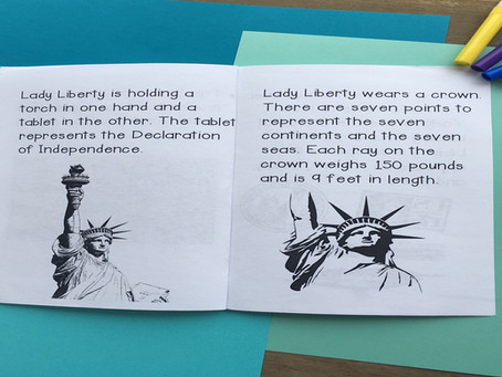 The Statue of Liberty Printable and Easy to Assemble Mini Book