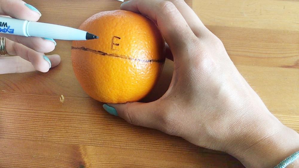 equator lesson using oranges