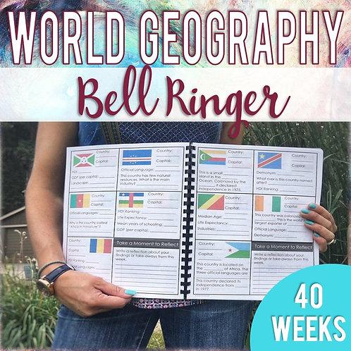 World Geography Bell Ringer (Print & Digital)