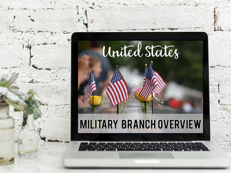 Branches of Military Lesson for Memorial Day