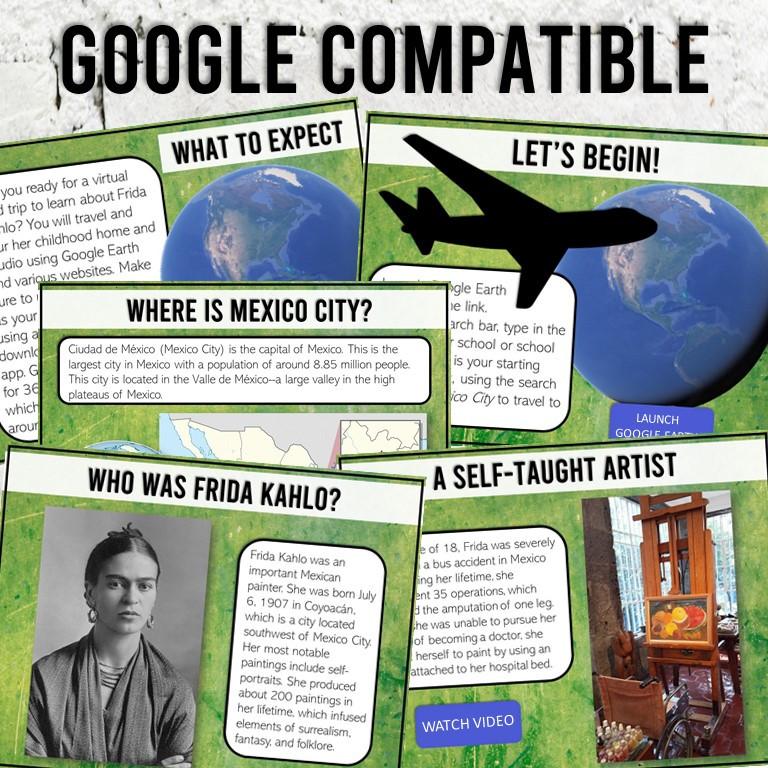 A digital lesson about Frida Kahlo for Big Kids