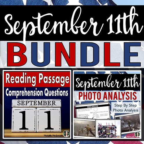 September 11th: Reading Passage and Photo Analysis Activity BUNDLE