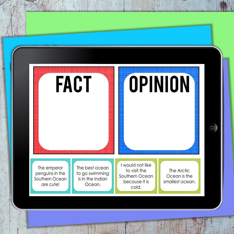 Fact vs Opinion Sorting Activity for Geography