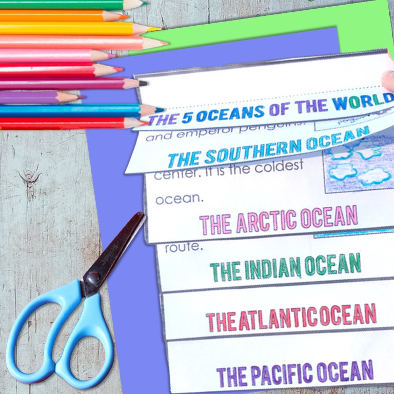 Five Oceans of the World Flip Book