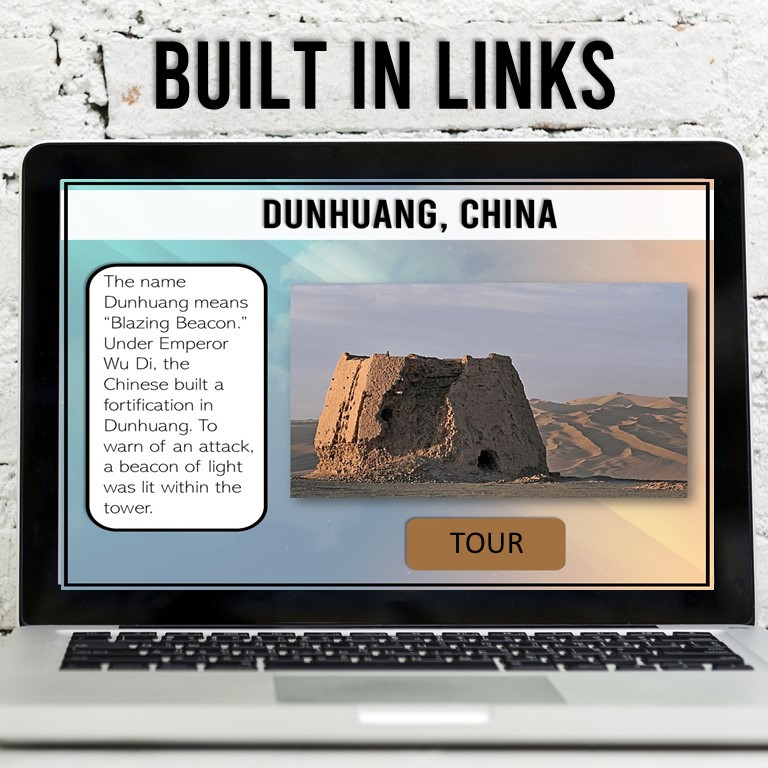 Take your students on a virtual tour of the Silk Road with this interactive digital activity