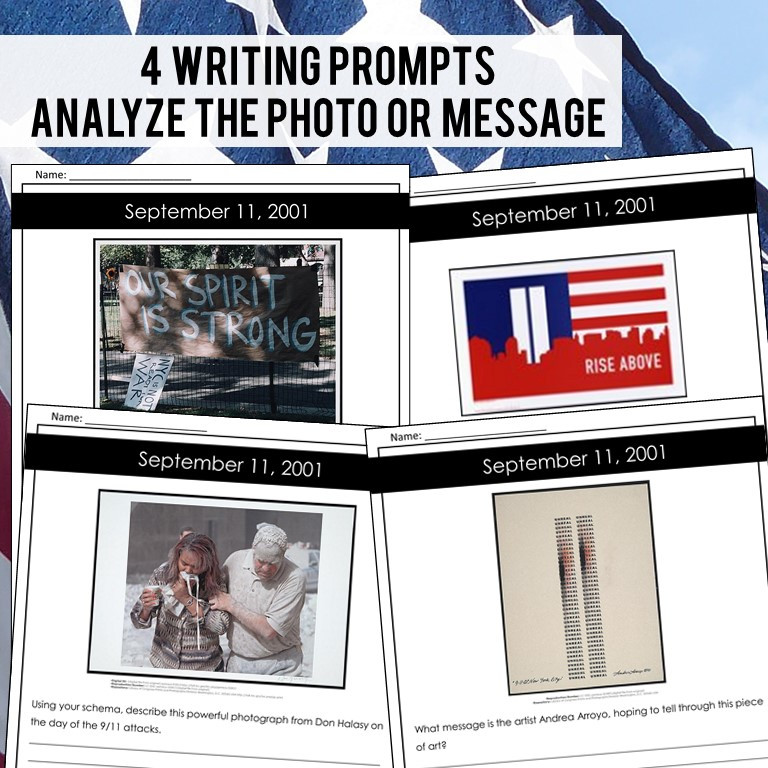 September 11th writing prompts for upper elementary