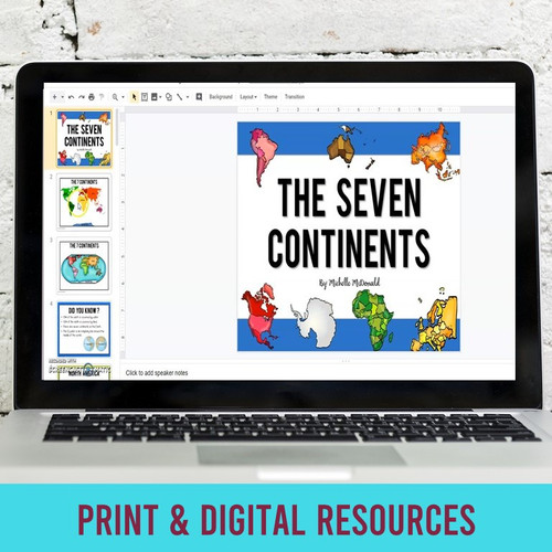 Seven Continents for Print and Digital L