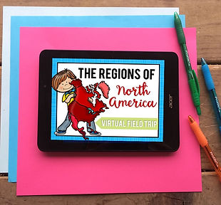 Regions of the North America Interactive Activity for 3rd grade