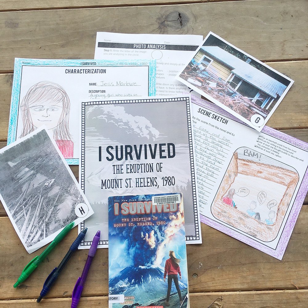 I Survived Series Book Study Mt St Helens Eruption
